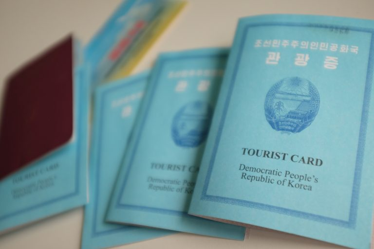 What a north korean tourist visa looks like