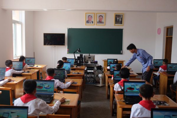 touring a school in North Korea
