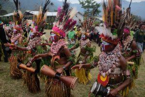Mount Hagen village, PNG.