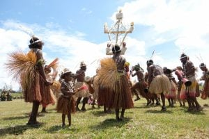 Getting ready for the Mount Hagen festival tour