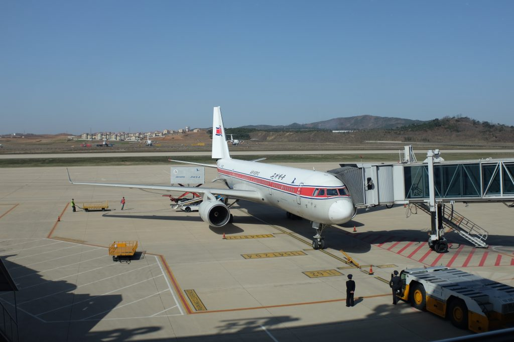 Air Koryo TU-204 about to depart from Pyongyang, North Korea