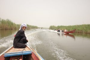 Boat driver on our southern Iraq tour