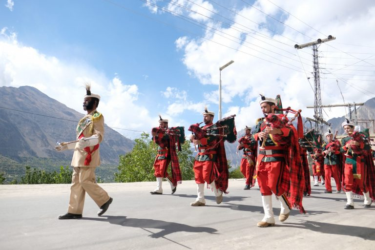 Hunza Valley marching band