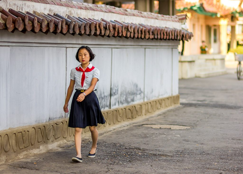 Sariwon girl in north korea