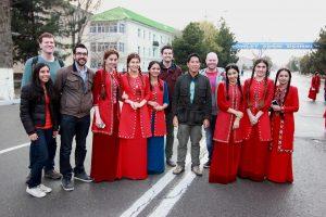 Turkmenistan ladies with our Turkmenistan tour group