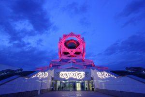 Turkmenistan wedding hall seen on our Turkmenistan tours