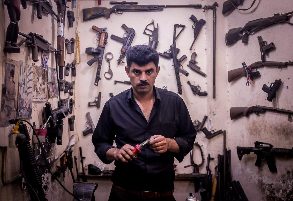 Visit a gun repair store in Erbil, Iraqi Kurdistan on our iraq tours