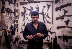 Visit a gun repair store in Erbil, Iraqi Kurdistan on our iraq tours