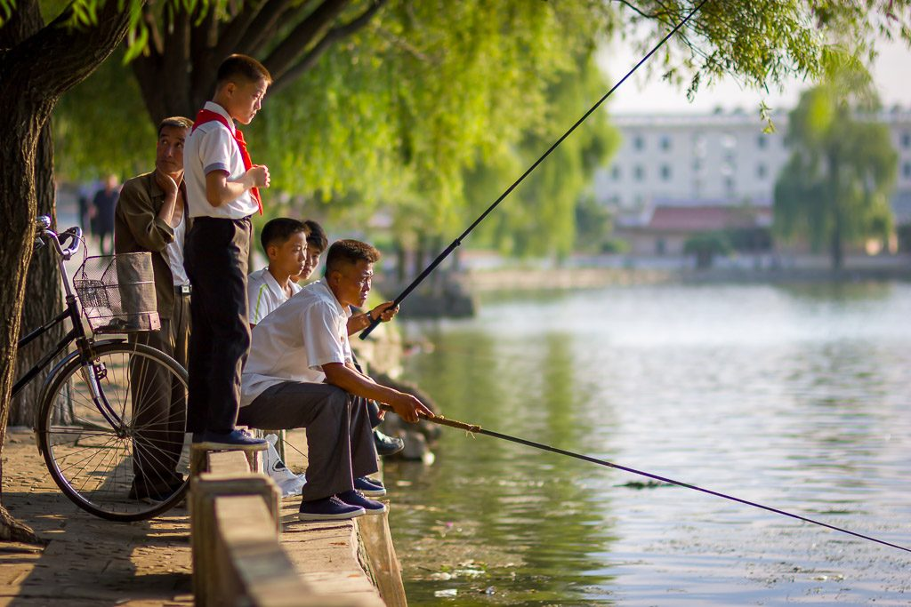 fishing in Sariwon, North Korea