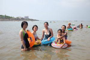 Swimming at Nampo Beach, North Korea