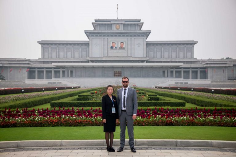 Founder of Rocky Road Travel - Shane Horan. Pictured at Kumsusan Palace of the Sun
