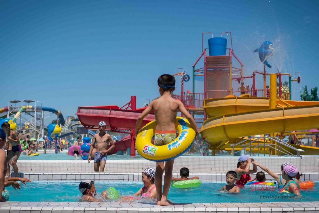Visiting Munsu Water Park, Pyongyang North Korea