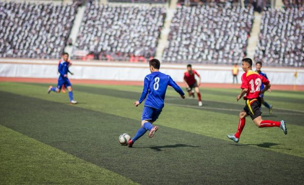 Playing football in north korea