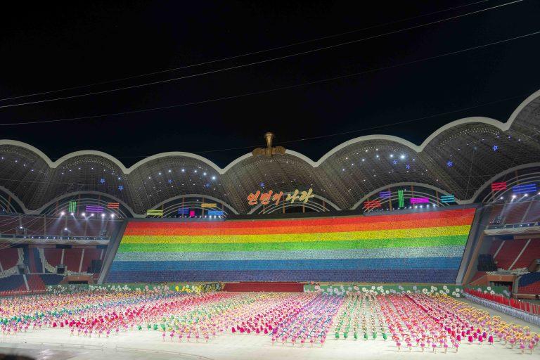 Rainbow flag display in North Korea