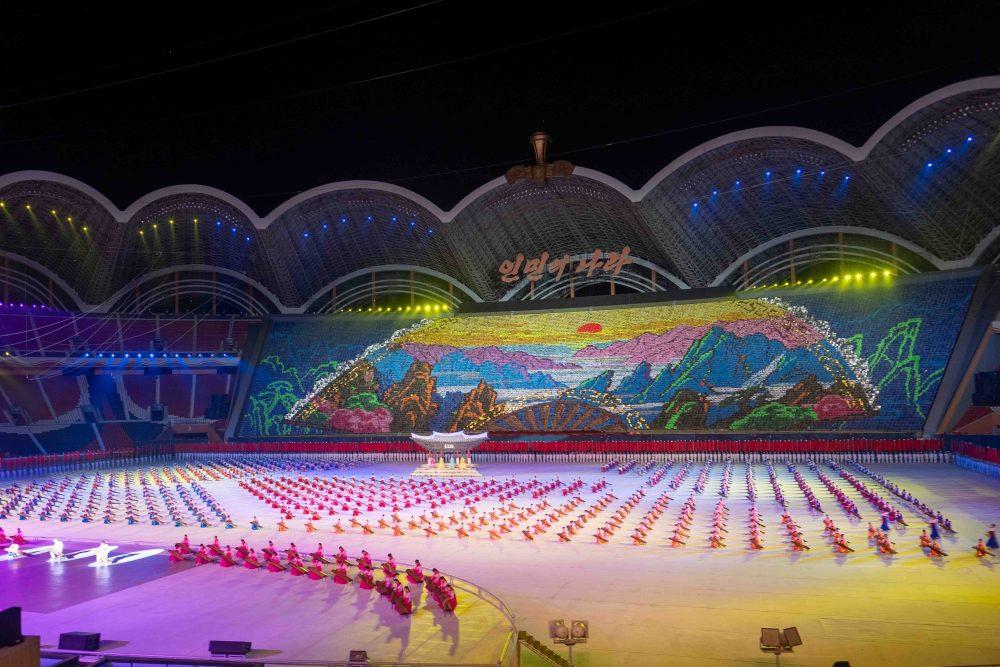 Mass Games at the Rungrado may day stadium in Pyongyang