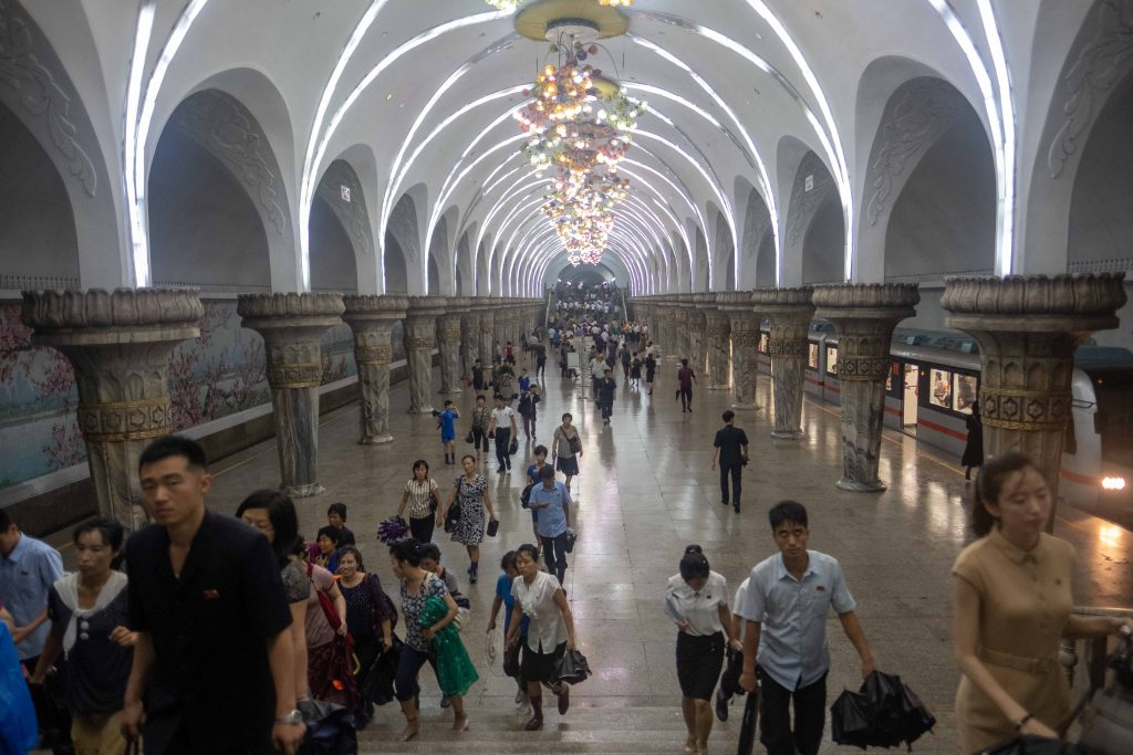 Glory Station, Pyongyang metro. Check it out on the Untouched North Korea tour