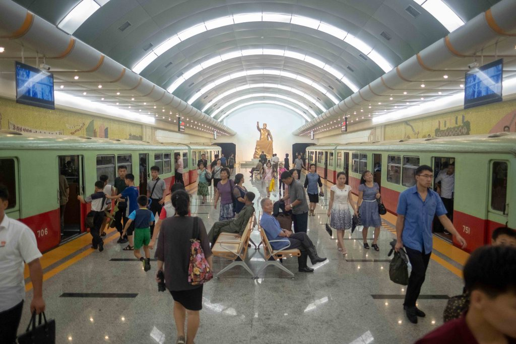 We visit every Pyongyang metro station on our Untouched north korea tour