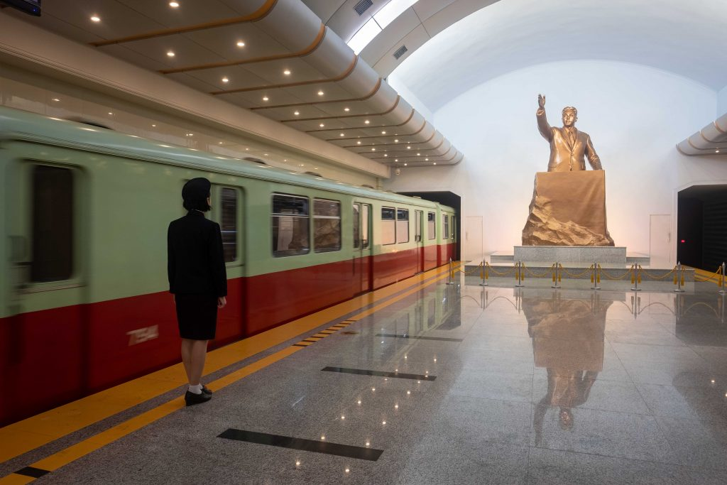 Renovated Kaeson metro station. Visit it on our Untouched North Korea tour