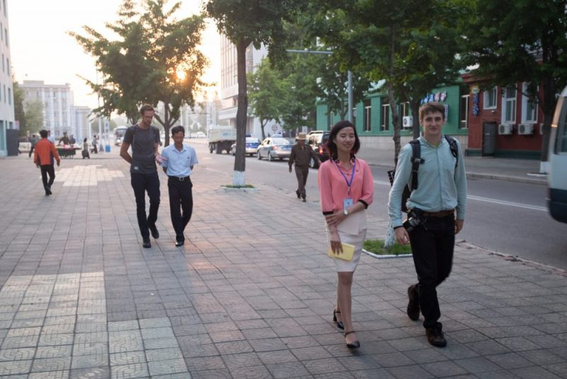 Walking the streets of Pyongyang