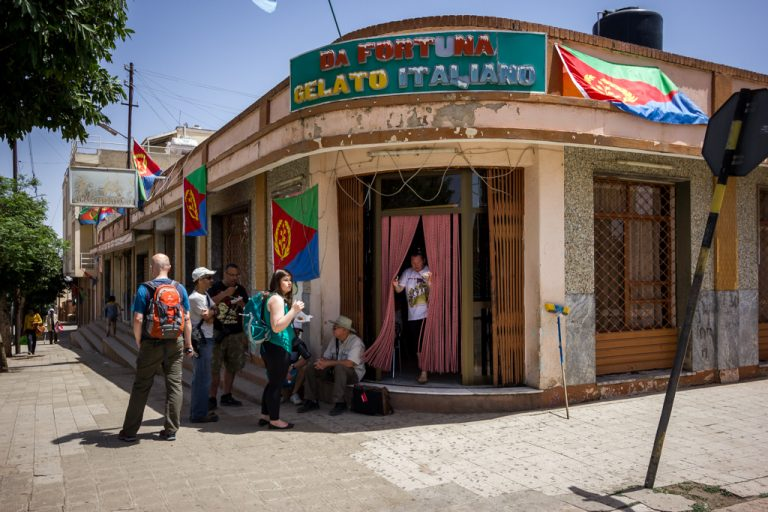 Gelato shop on our Eritrea national day tour