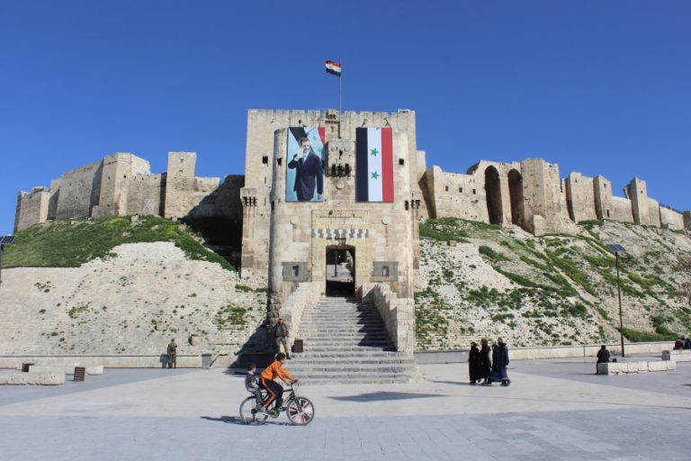 A castle in Syria, visited by Rocky Road Travel on tour