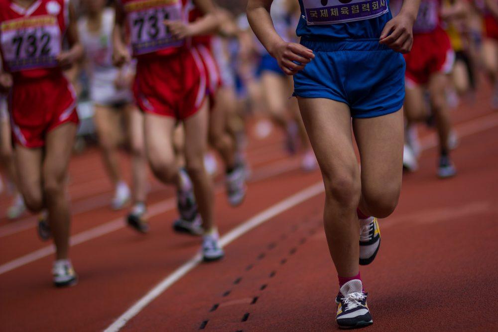 Pyongyang marathon runners
