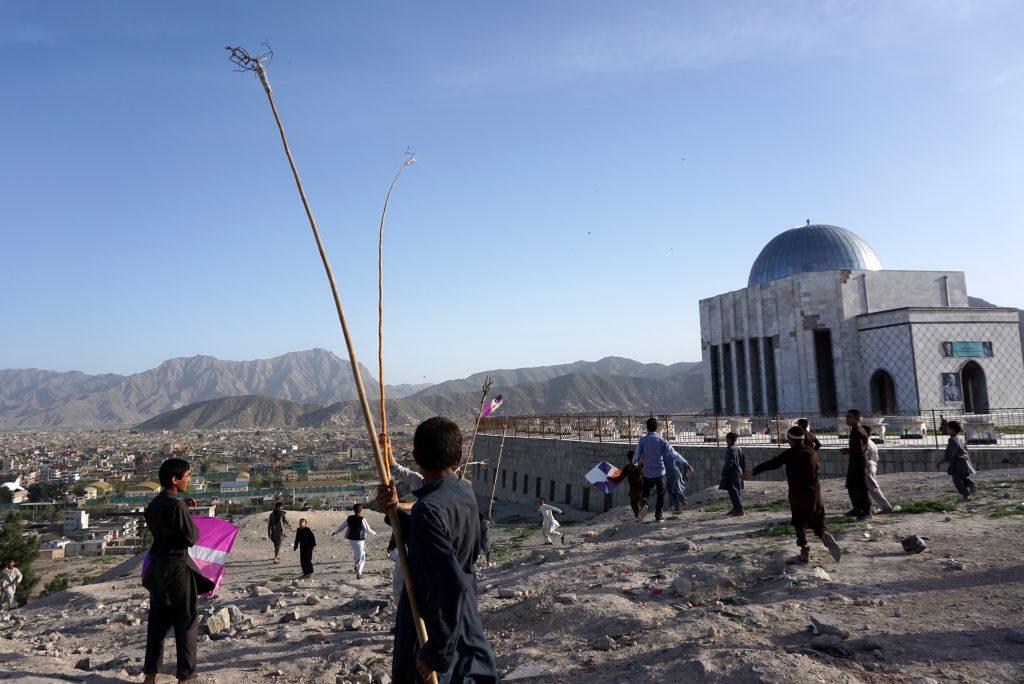 Kites on a Afghanistan tour.