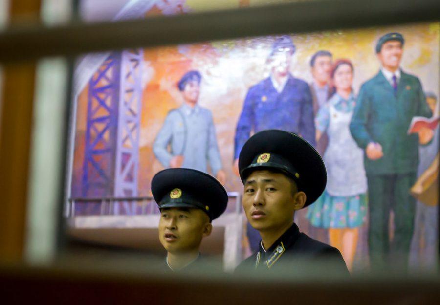 Pyongyang metro conductors