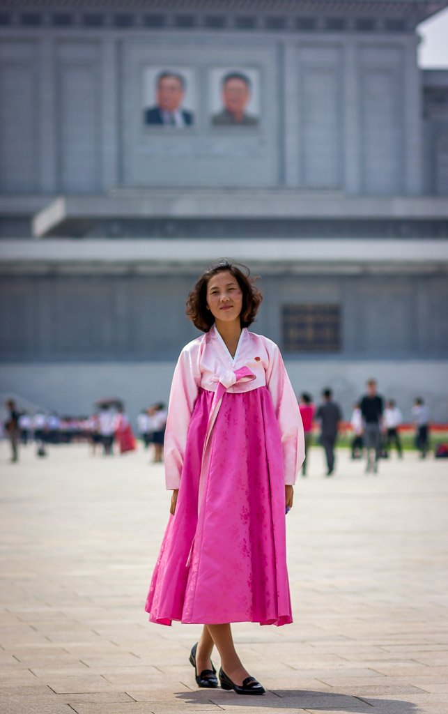 North Korean local guide at the Kumsusan Palace of the sun