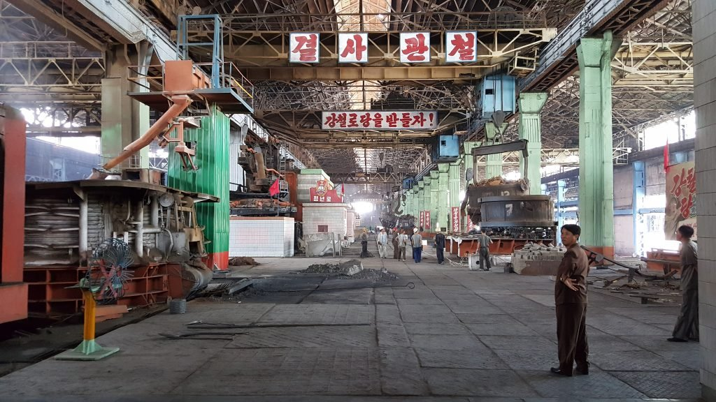 Chollima steelworks seen on a north korea tour