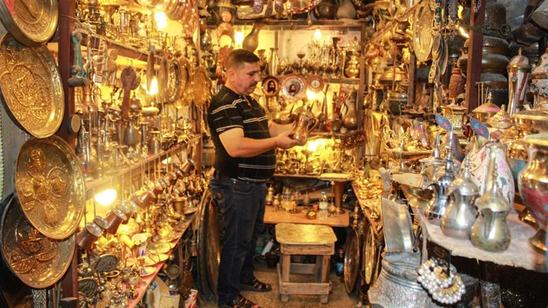 Baghdad copper market. One of the city's top tourist attractions