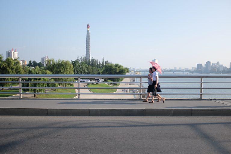 Juche tower in Pyongyang