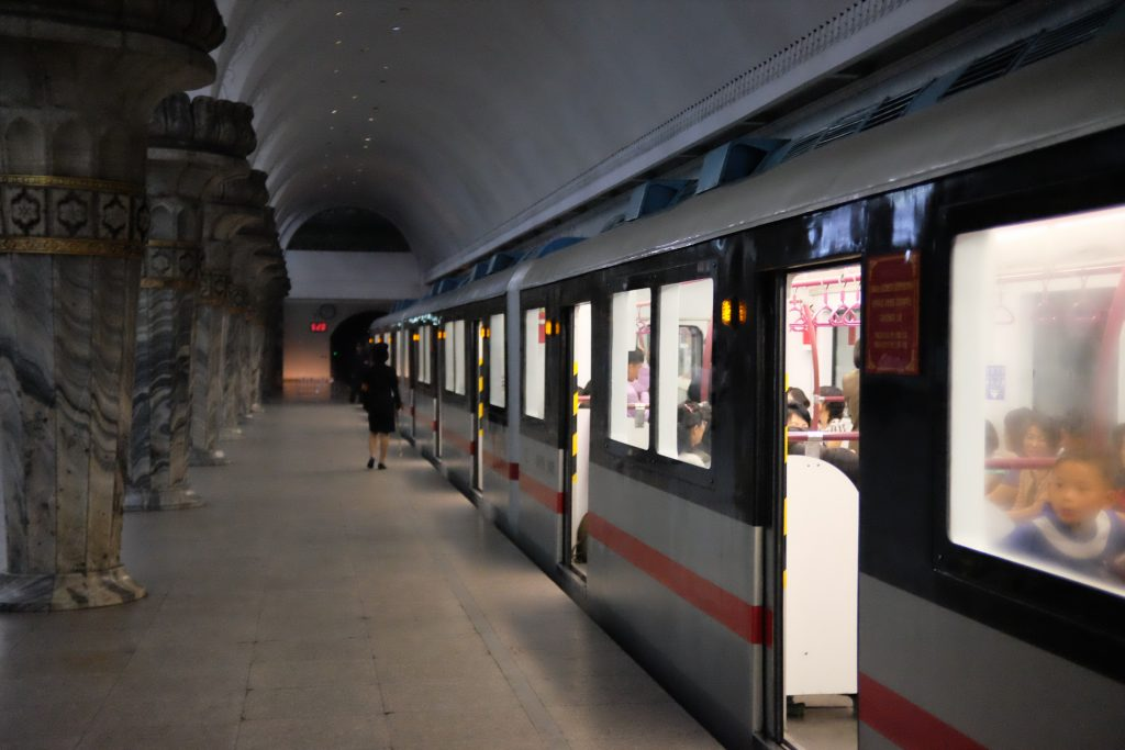 new pyongyang metro train