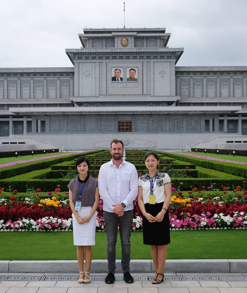 North Korean tour guides at the Kumsusan Palace of the Sun
