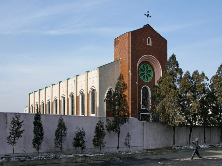 Changchun catholic catedral, Pyongyang. Visit it on a tour of north korea