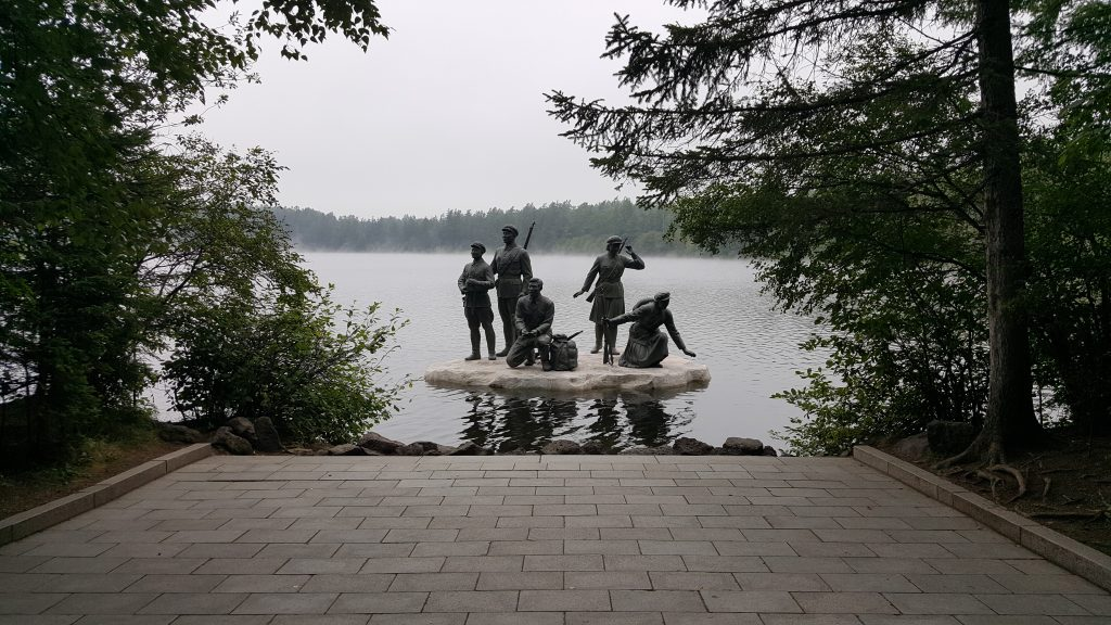 Monument to Korean Guerrillas in lake Samjiyon