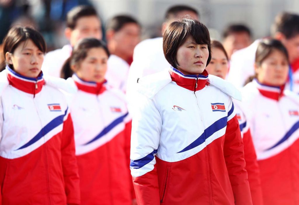 North Korean athletes in South Korea