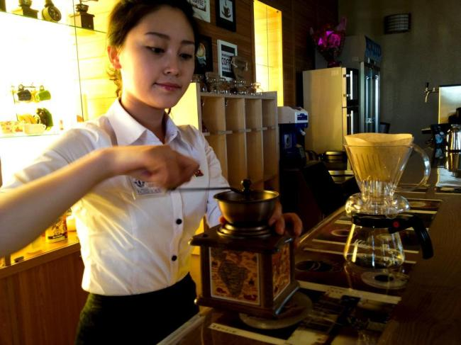 Making coffee in North Korea