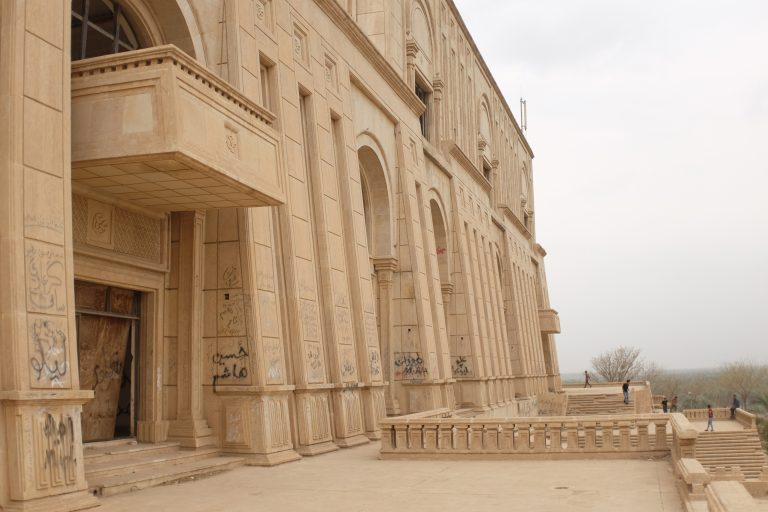 Outer walls of the Saddam Hussein Palace in Babylon, Iraq