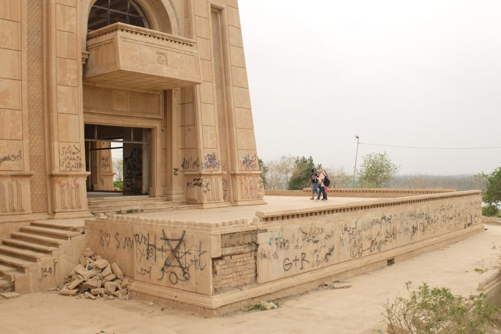 Outer corner of the Saddam Hussein palace in babylon. See it on our southern Iraq tour