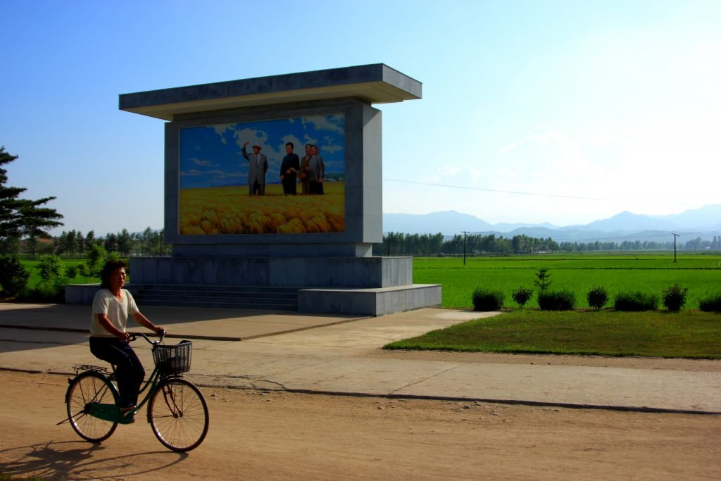 On a north korean farm. Seen on our agriculture in North Korea tour