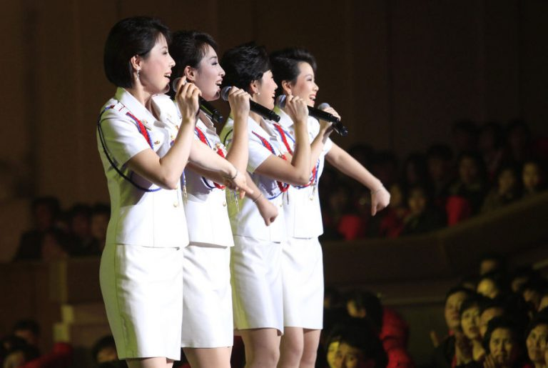 music in North Korea - the Moranbong band