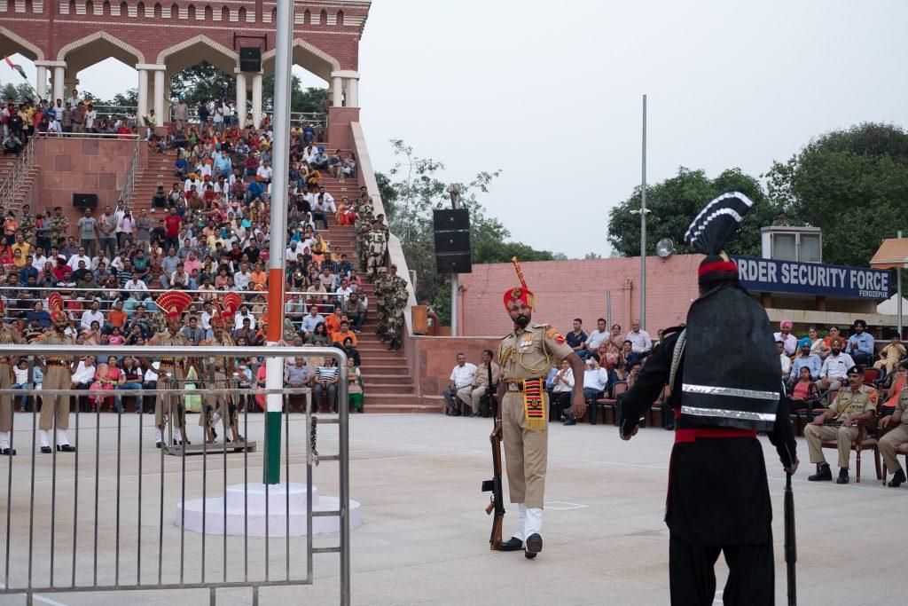 Ganda Singh Wala border guards face off in Pakistan