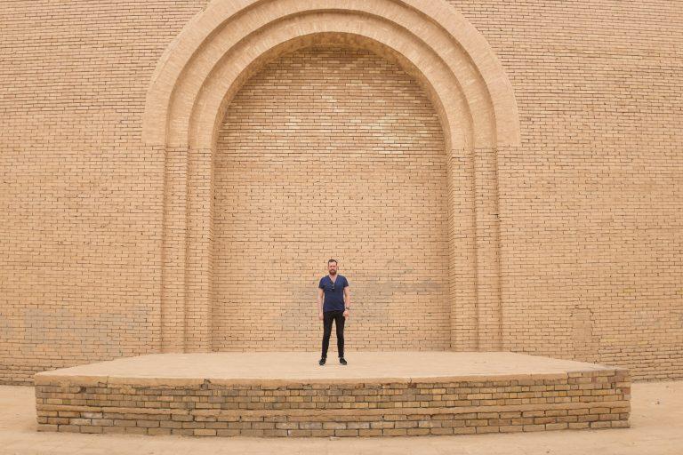 On tour in Babylon, Iraq