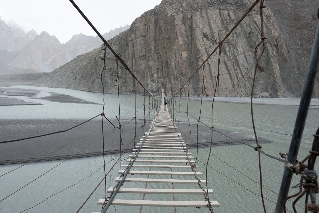 The bridge in Sost along the Karakoram Highway in Pakistan