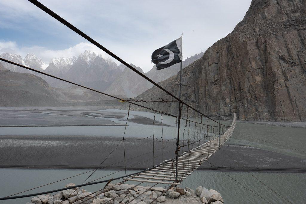 The Husseini Bridge along the Karakoram Highway in Pakistan