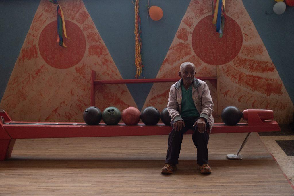 Local man in Asmara Bowling Alley