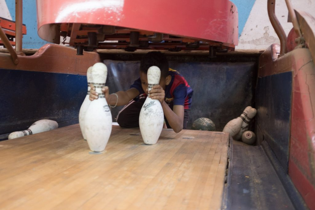 at the bowling alley in Asmara, Eritrea
