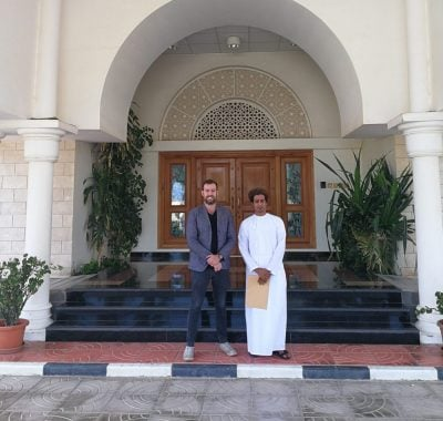 Meeting at the Yemen embassy in Oman to organise socotra tours