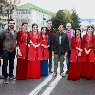 Turkmenistan ladies with our Turkmenistan tour group